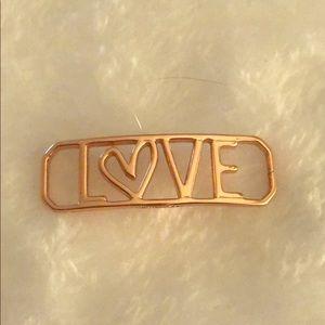 Authentic Origami Owl Love Bracelet Slider